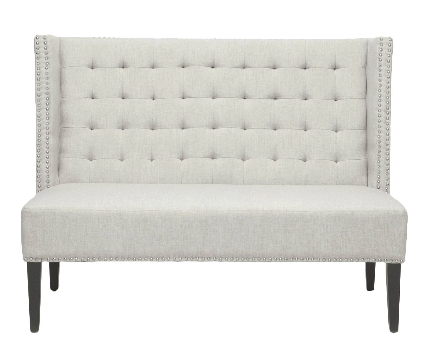 Attractive Upholstered Dining Bench With Back