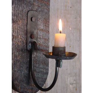 Wall lighting candle sconce primitive