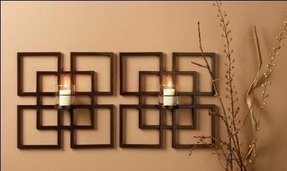 Wall sconces candles wrought iron