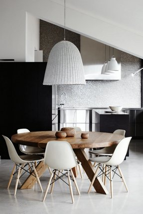 Admirable Round Dining Table For 8 People Ideas On Foter Machost Co Dining Chair Design Ideas Machostcouk