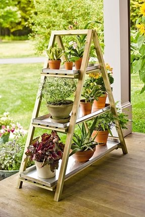 Windowsill plant stand