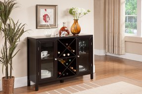 Wine rack coffee table