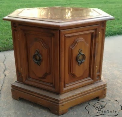 Wood Crate End Table