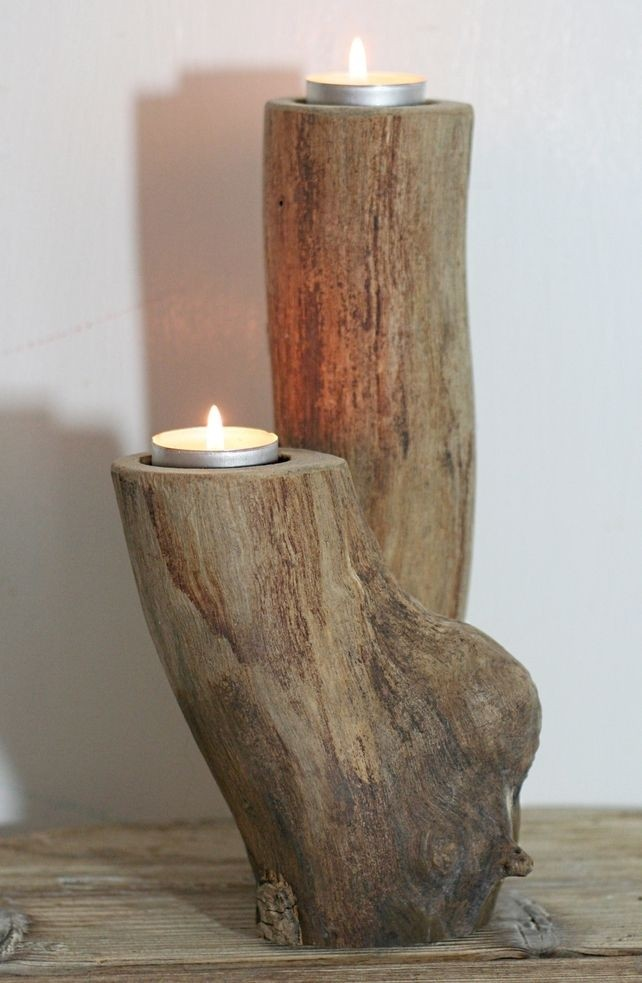 Wooden candle sconces & Large Wooden Candle Holders - Foter