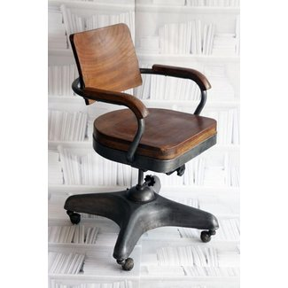 Wooden Swivel Office Chair 18