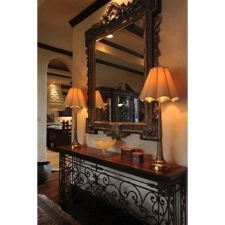 Wrought iron entry table