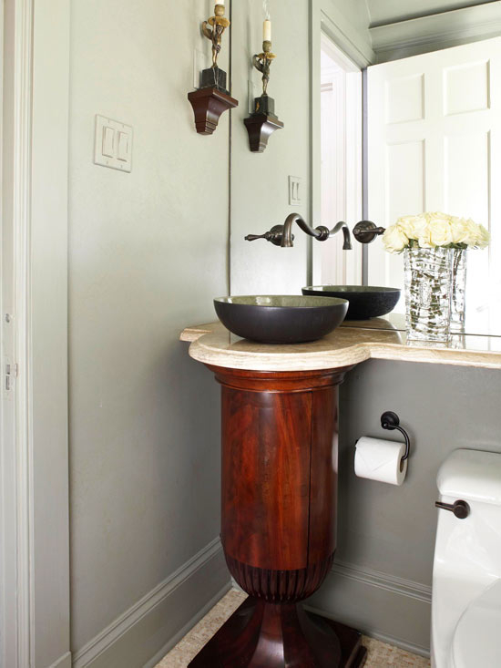 Wrought Iron Pedestal Sink