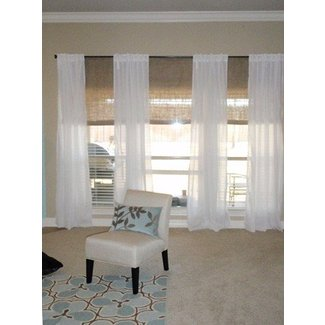 3 window curtains