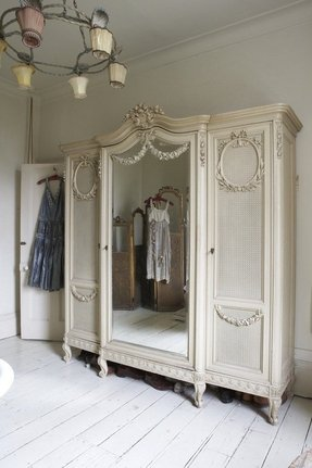 Armoire with mirrored front