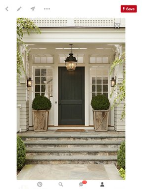 Artificial topiaries for front porch