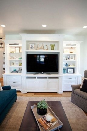 Basement built in entertainment center
