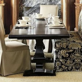 Black dining room table with leaf 1