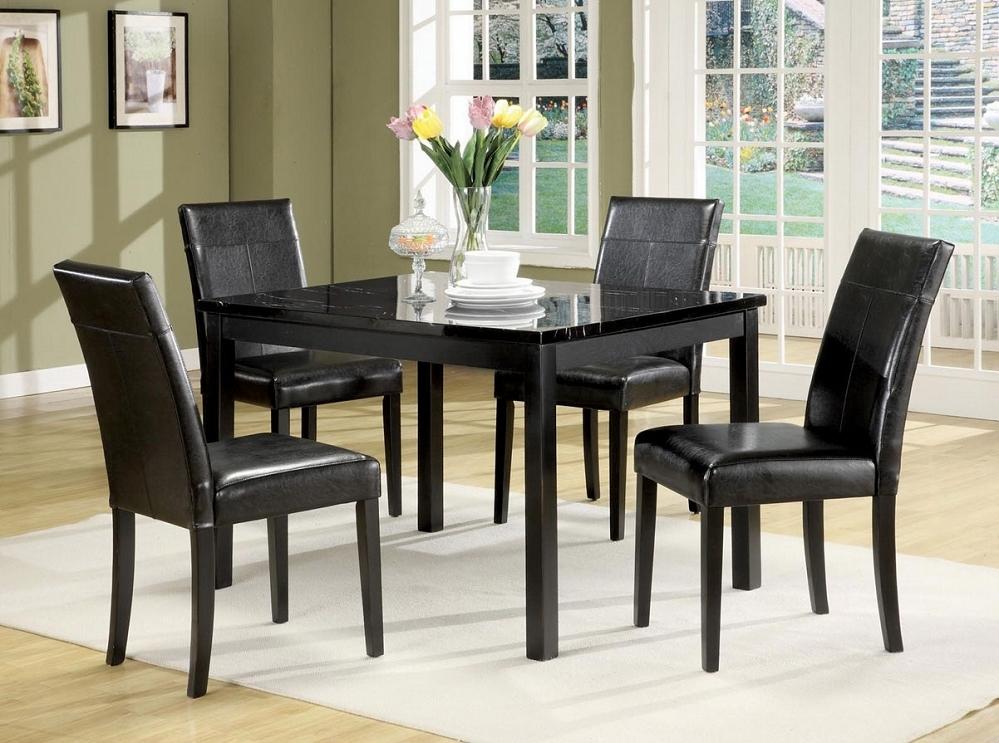 Black marble dining table set 22 & Black Marble Dining Table Set - Foter