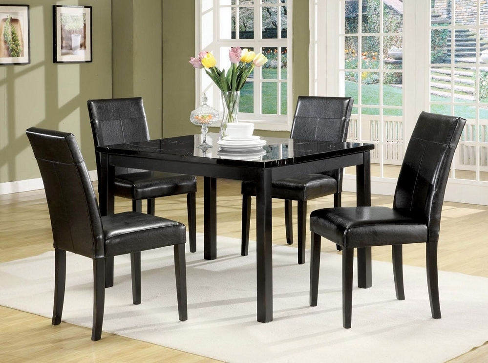 Black Marble Dining Table Set 22