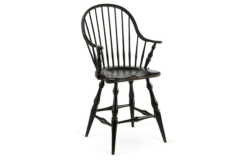 Black windsor bar stools 5