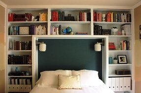 King Size Bookcase Headboard Ideas On Foter