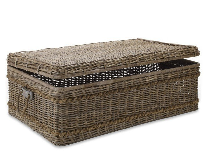 Attrayant Brown Rattan Coffee Table