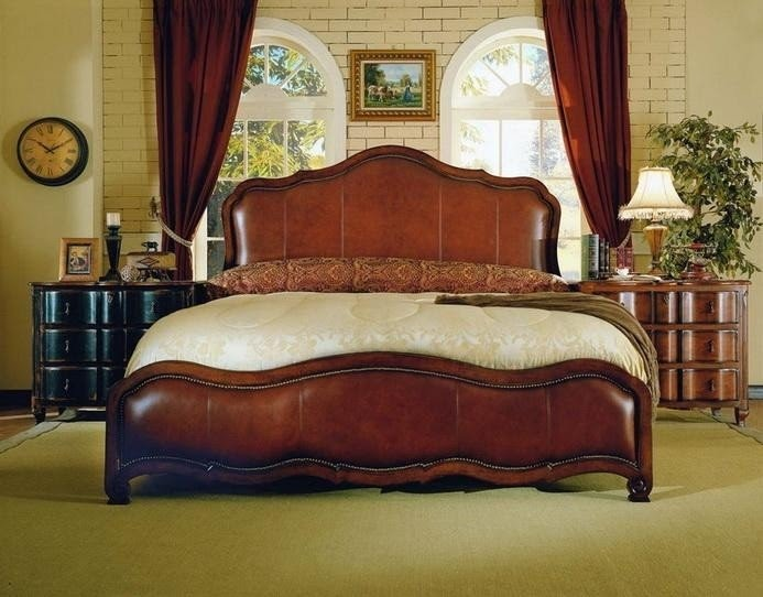 Cal king leather headboard 3
