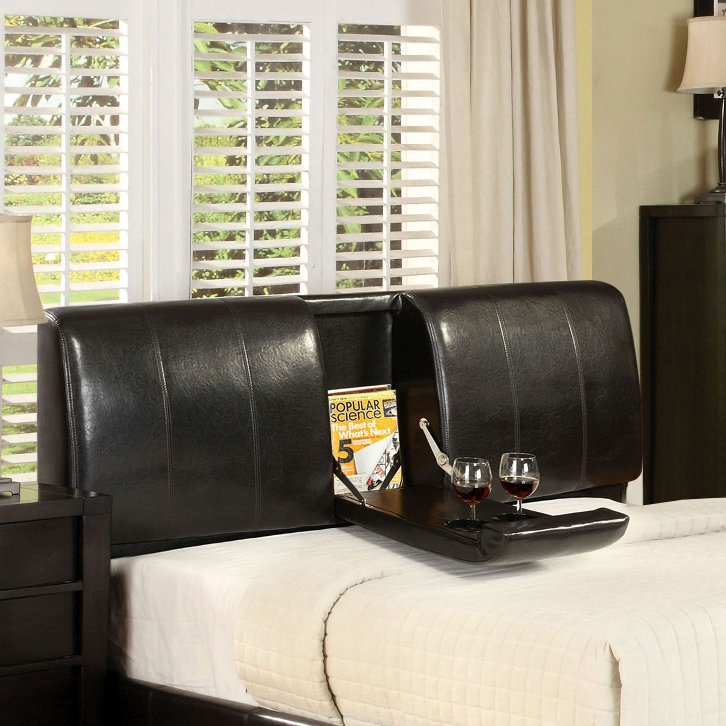 Cal king leather headboard 6