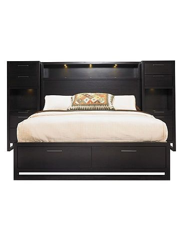 Headboard Full Queen Size Bed Bedroom Furniture Bookcase Storage Organizer New