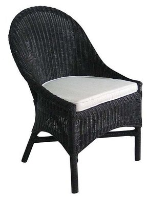 Admirable Black Wicker Dining Chair Ideas On Foter Machost Co Dining Chair Design Ideas Machostcouk