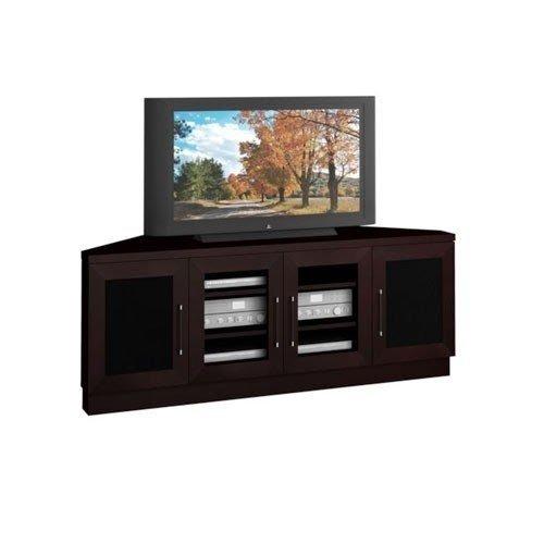 Contemporary 60 Inch Wenge Tv Entertainment Corner Console Furnitech Corner
