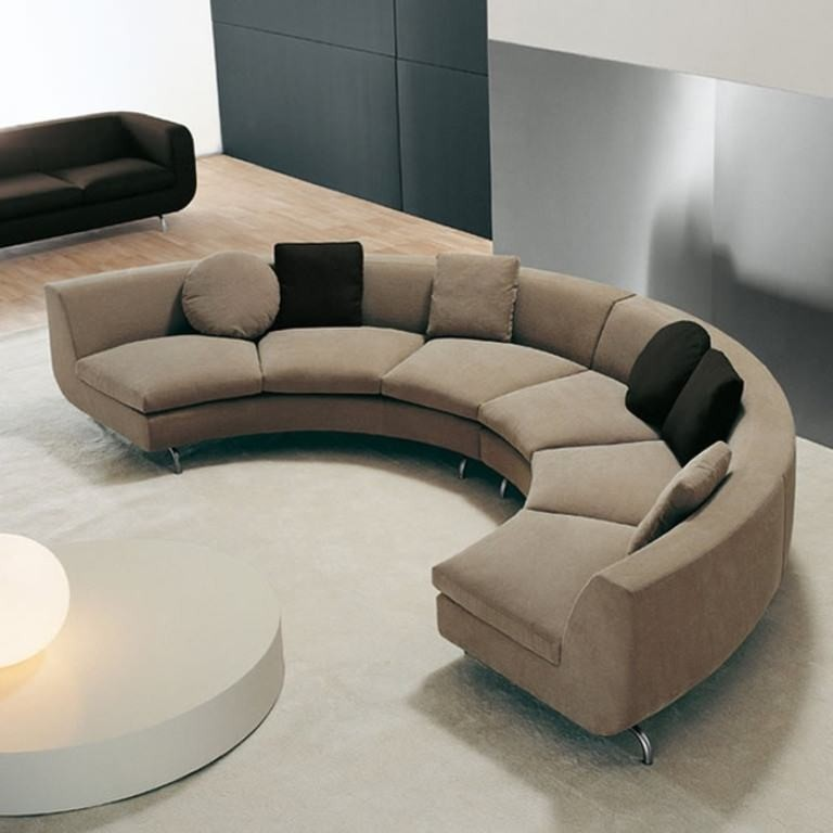 Merveilleux This Sectional Sofa Offers A Modern Curvature Design, Especially Suitable  For Larger Living Rooms. The Sofa Is Upholstered In A Nice To Touch  Material, ...