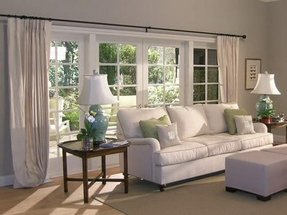 Picture window curtains and window treatments foter for Types of living room windows