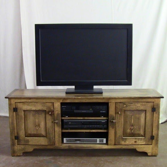 Distressed pine 60 inch tv stand rustic