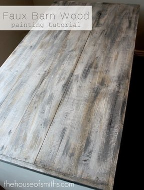how to make white paint on wood look distressed