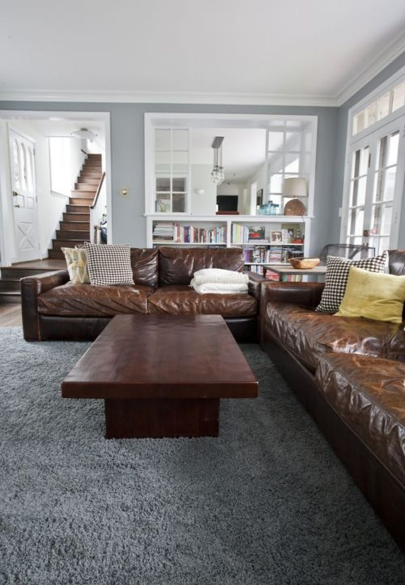 Down Filled Leather Sofa