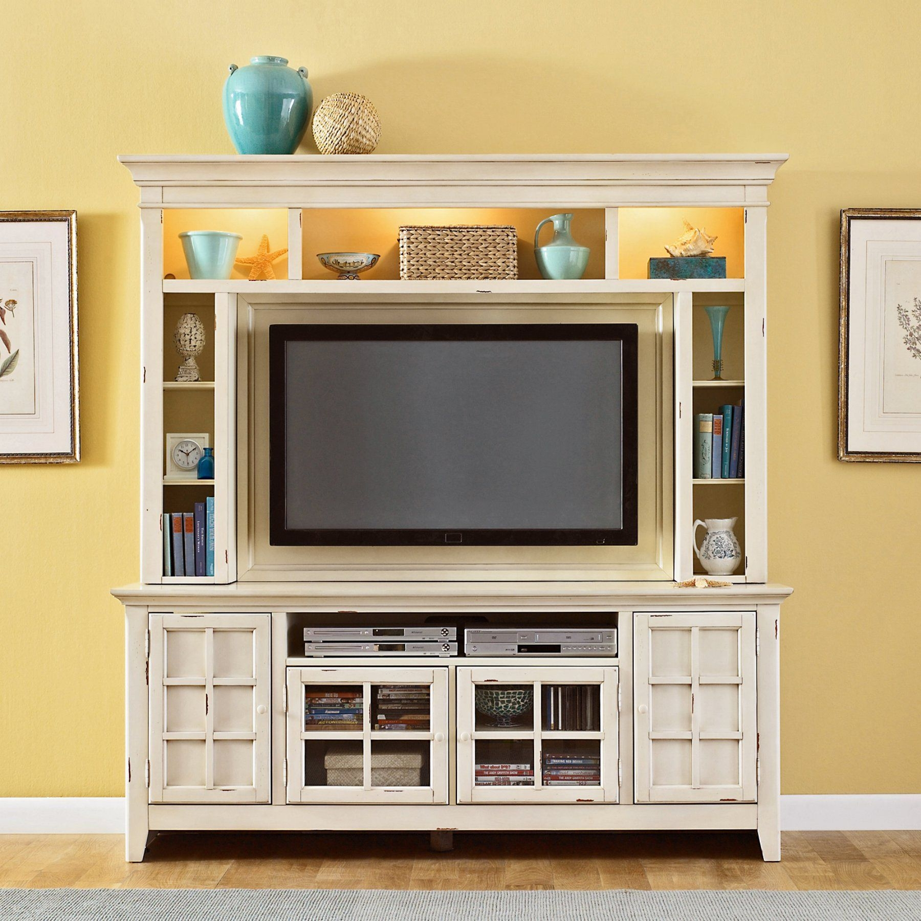 Bon Enclosed Tv Cabinets For Flat Screens