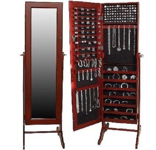 Gentil Floor Standing Mirror Jewelry Armoire 1