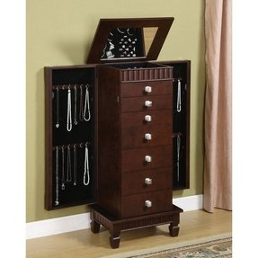 buy jewelry armoire foter. Black Bedroom Furniture Sets. Home Design Ideas