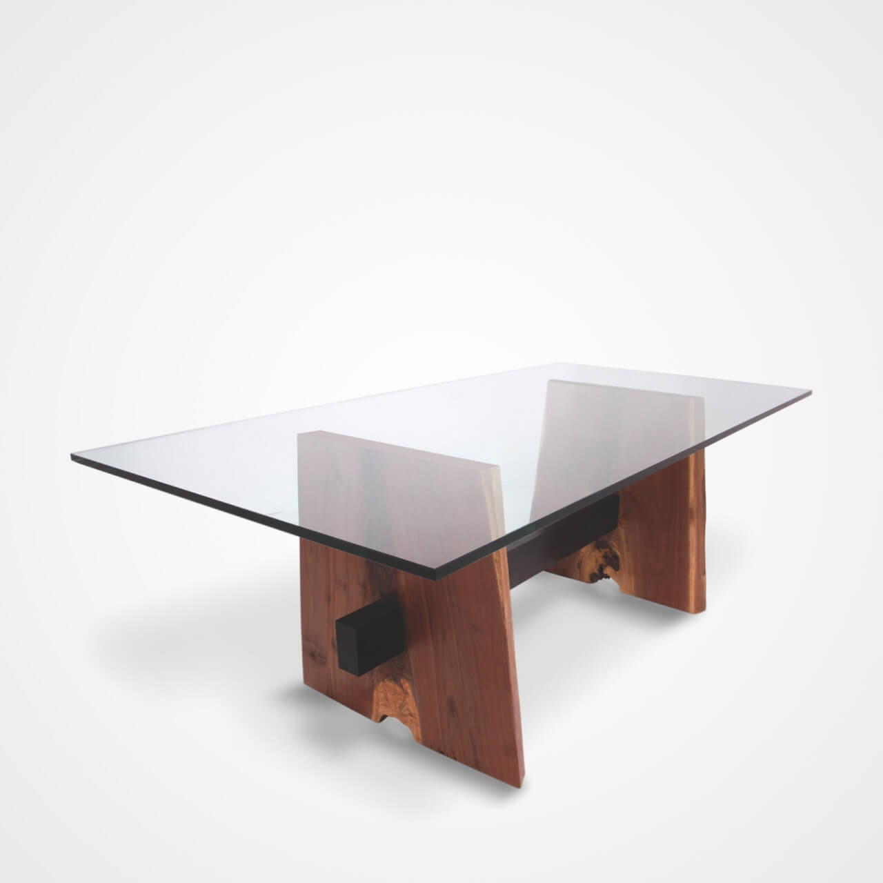Glass Top Dining Table Wood Base