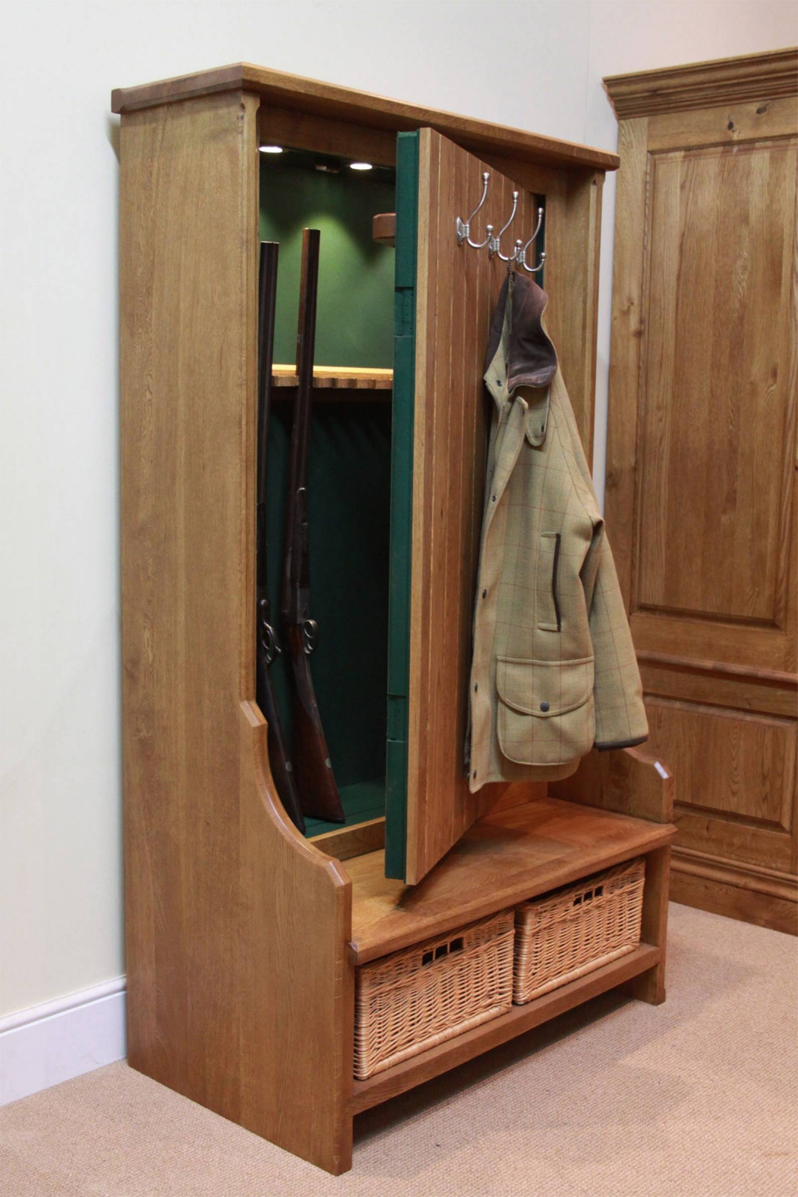 Attrayant Hall Tree Coat Rack Storage Bench