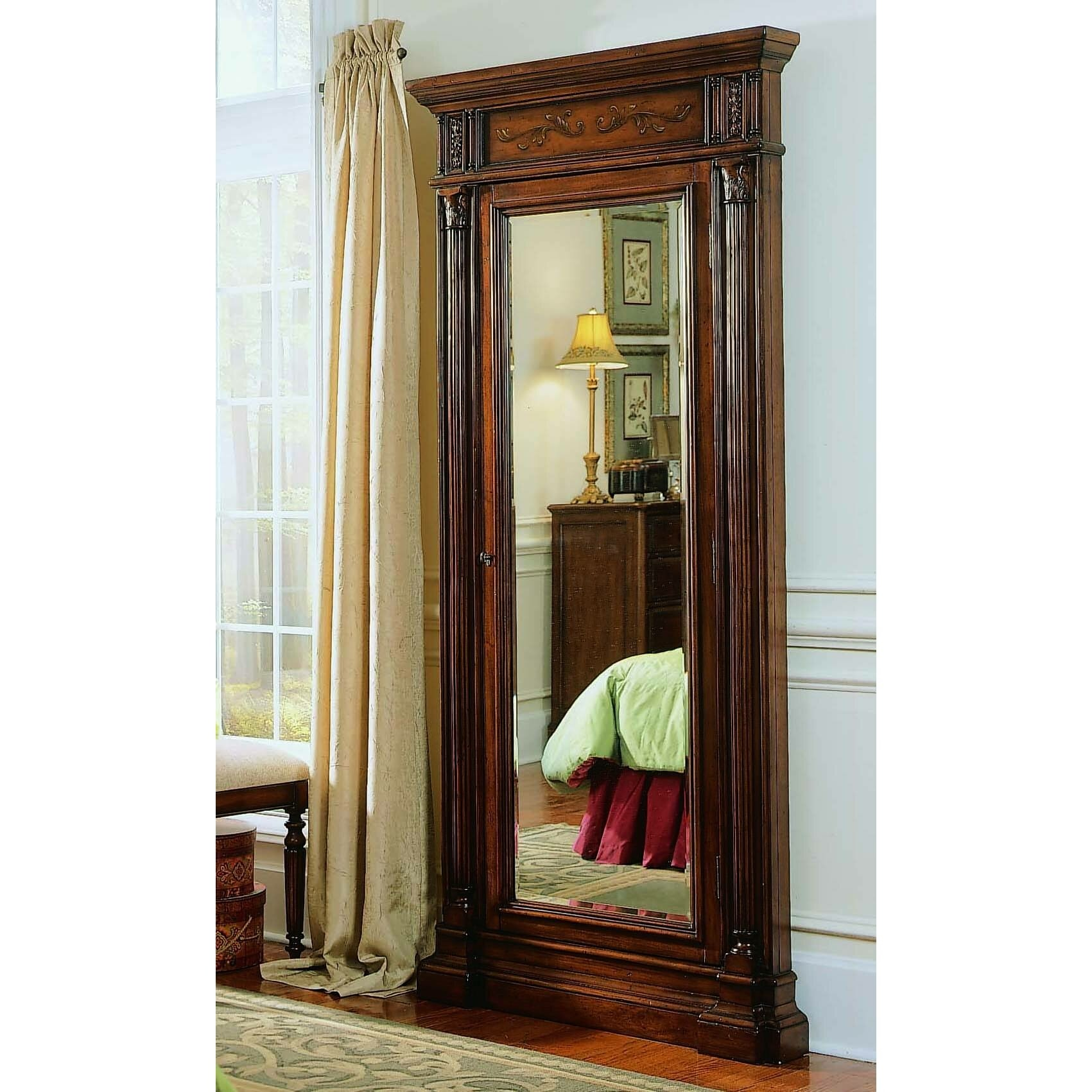 Hooker Furniture Seven Seas Floor Mirror With Jewelry Armoire 3