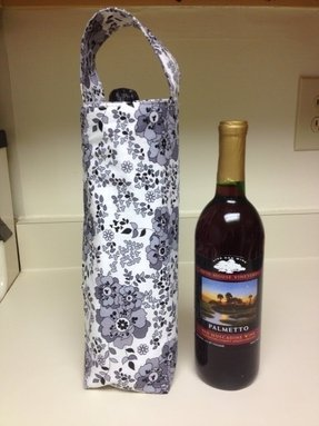Insulated wine totebag
