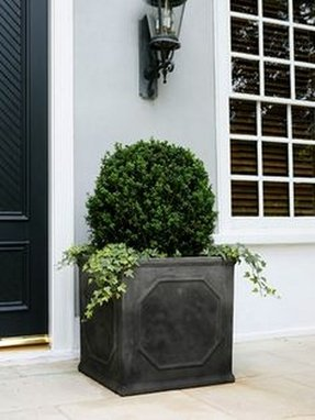 Large black planter 2