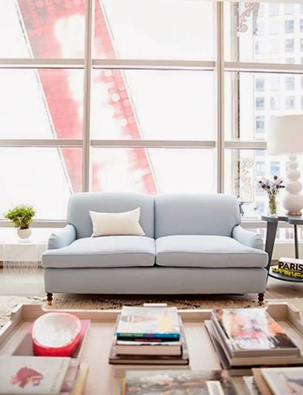 Exceptional Light Blue Couch