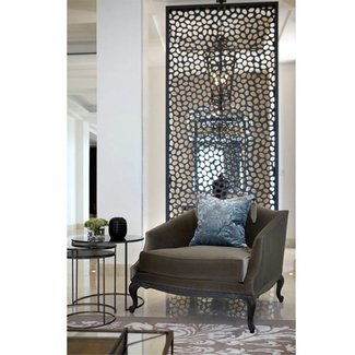 Metal room divider screen