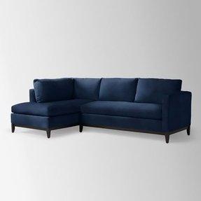 Swell Navy Blue Sectional Sofa Ideas On Foter Creativecarmelina Interior Chair Design Creativecarmelinacom