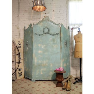 Painted cottage chic shabby aqua room