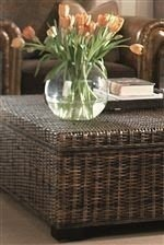 Rattan Coffee Table With Storage 2
