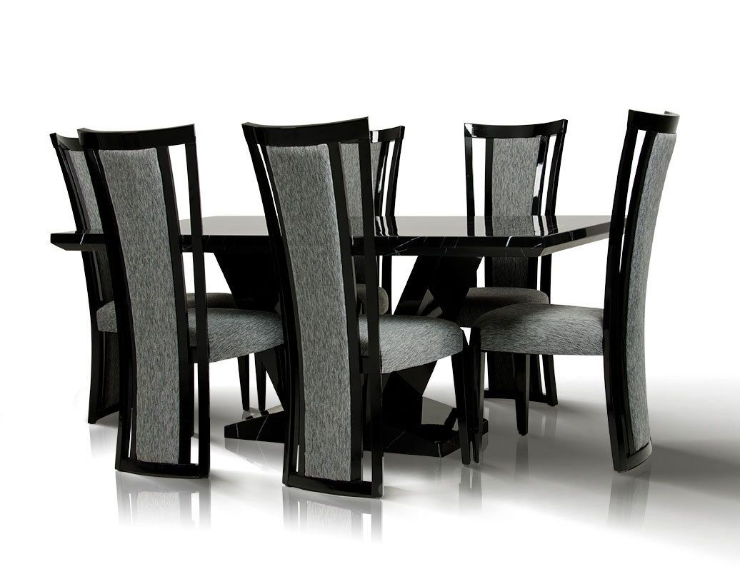 Marvelous Round Black Marble Dining Table