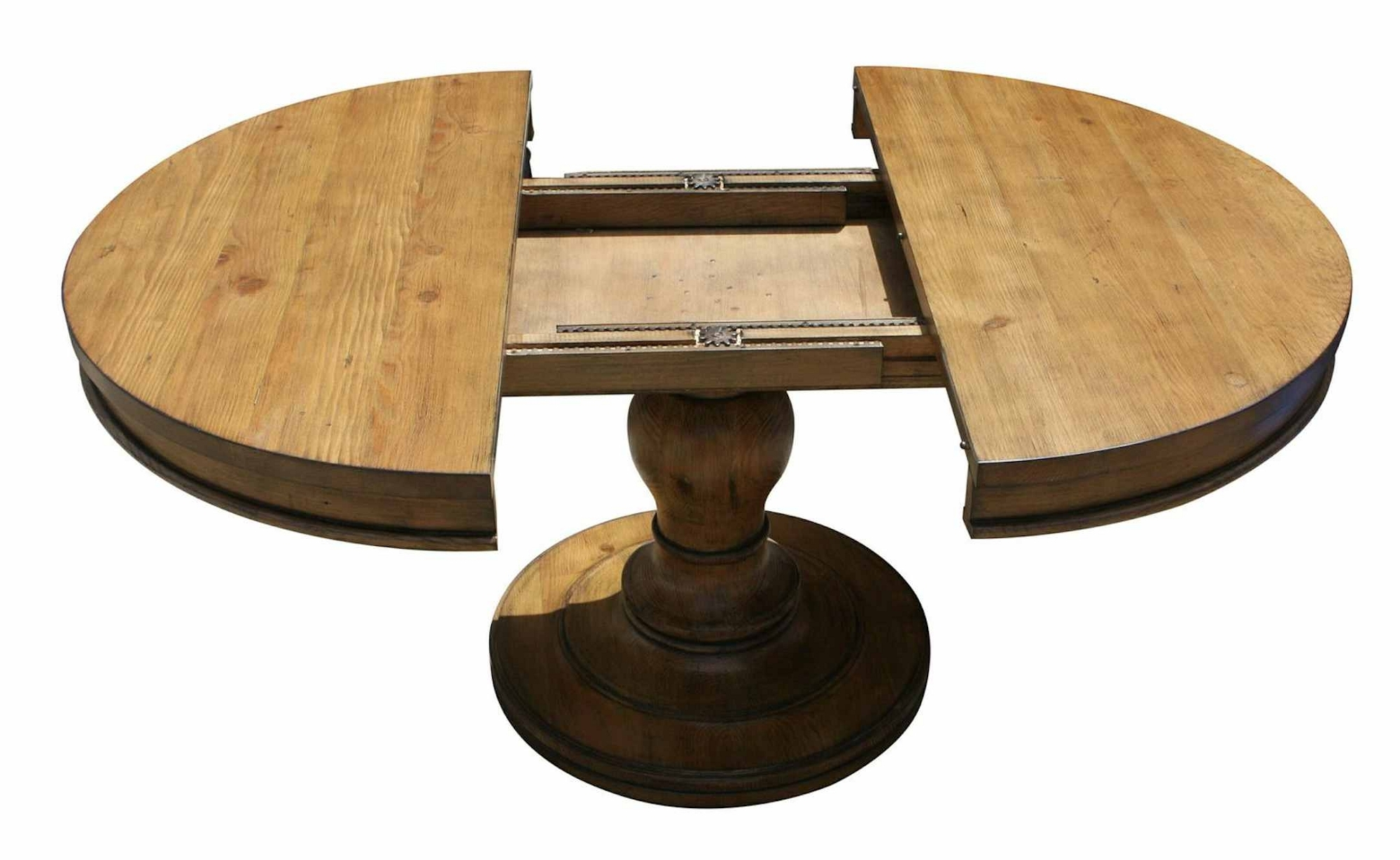 Top Round Dining Table For 6 With Leaf - Foter MJ39