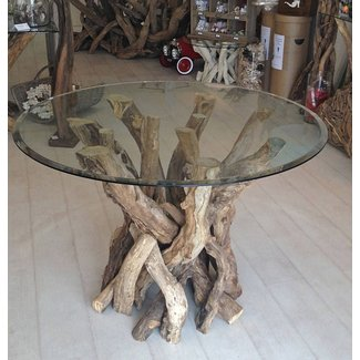 Round Glass Top Dining Table Wood Base Ideas On Foter