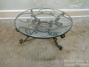 Round Wrought Iron Coffee Table Foter