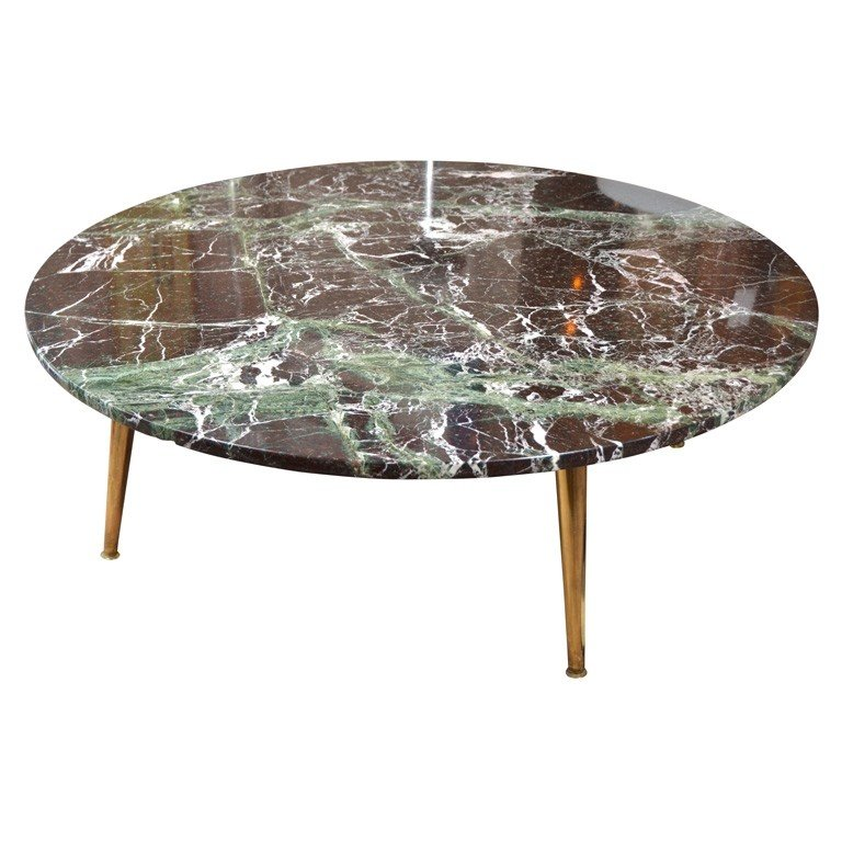 Round Stone Top Coffee Table 3