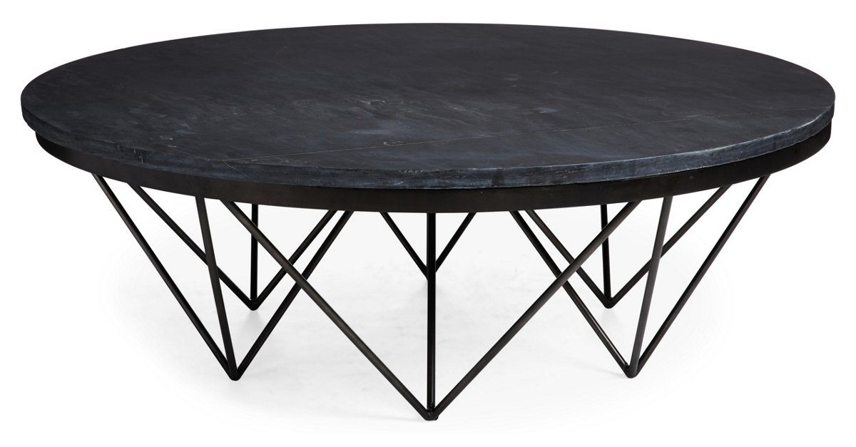 Round Stone Top Coffee Table 9